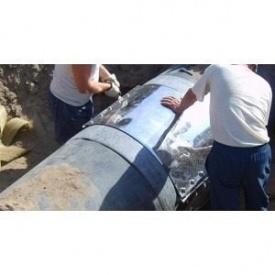 Хомут для ремонту труб опалення 200-210х200 мм