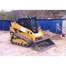 Будівництво озера міні-навантажувачем Caterpillar 259 B6