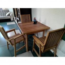 Комплект деревянной мебели для дачи