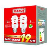 Комплект энергосберегающих ламп MAXUS 2-ESL-200-P XPiral 15W 4100K E27