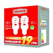 Комплект энергосберегающих ламп MAXUS 2-ESL-199-P XPiral 15W 2700K E27