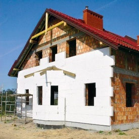 Система утепления Ceresit для фасада дома пенопластом 50 мм