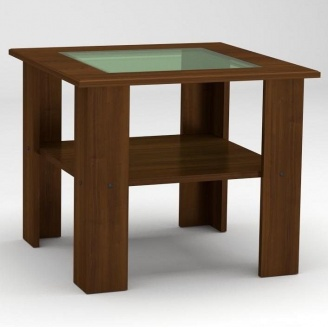 Журнальный столик Компанит Мадрид-МДФ 600х500х600 мм орех