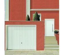 Щитовые ворота Hormann Berry Pearl вертикальный гофр 2375х2125 мм RAL 8028 корычневый
