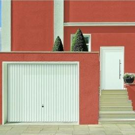 Щитовые ворота Hormann Berry Pearl pearlgrain 2375х2125 мм RAL 9016 белый