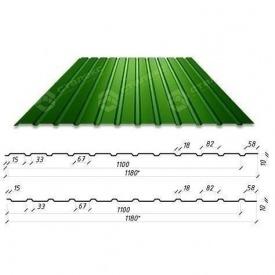 Профнастил Сталекс С-10 1180/1100 мм 0,50 мм PE Германия (Acelor Mittal) (RAL6005/зеленый мох)