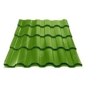 Металлочерепица Сталекс VALENCIA 350/20 0,45 мм PEMA Словакия (US Steel Kosice) (RAL6002/зеленый лист)