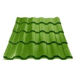 Металлочерепица Сталекс VALENCIA 350/20 0,50 мм PEMA Польша (Acelor Mittal) (RAL6002/зеленый лист)