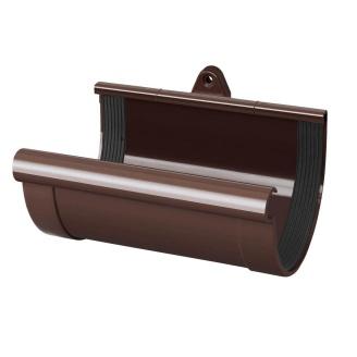 Муфта желоба Rainway 130 мм коричневая