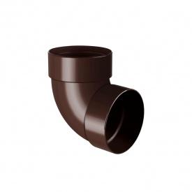 Відведення двомуфтове Rainway 87 градусів 75 мм коричневе