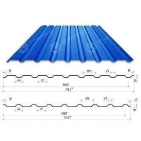 Профнастил Сталекс С-18 1140/1085 мм 0,50 мм PE Польша (Acelor Mittal) (RAL5005/сигнально-синий)
