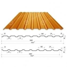 Профнастил Сталекс С-18 1140/1085 мм 0,50 мм PEMA Германия (Acelor Mittal) (RAL8004/медно-коричневый)