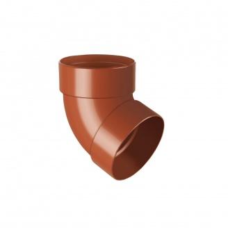 Отвод двухмуфтовый Rainway 67 градусов 100 мм кирпичный