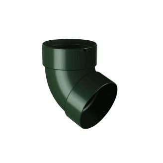Відведення двомуфтове Rainway 67 градусів 75 мм зелене