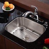 Комплект кухонный Kraus KBU12-KPF2210-KSD30CH умывальник+смеситель