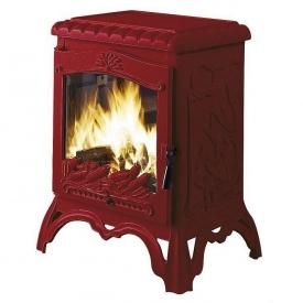 Чугунная печь INVICTA CHAMBORD 10 кВт эмалированная красная