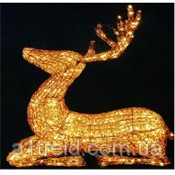 Светодиодная скульптура Золотой олень 1,03 м