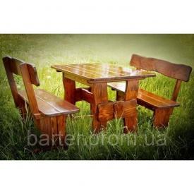 Комплект меблів з натурального дерева для ресторану 3000x800