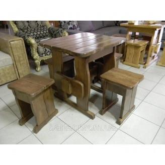 Стол из дерева садовый 750*750