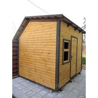 Дом садовода деревянный сборный щитовой 2500х3000х2870 мм
