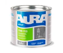 Эмаль Aura ПФ-115 А 0,9 кг красно-коричневый