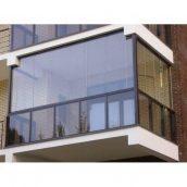 Безрамне скління балконів з профільною системою SKS-Stakusit