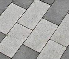 Тротуарная плитка Золотой Мандарин Кирпич стандартный без фаски на сером цементе 60 мм белая
