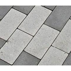 Тротуарна плитка Золотий Мандарин Цегла стандартний без фаски на сірому цементі 60 мм біла
