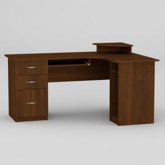 Компьютерный стол Компанит СУ-3 1600х1100х756 мм орех