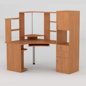 Компьютерный стол Компанит СУ-12 1600х1100х736 мм ольха