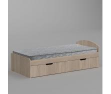Кровать Компанит-90+2 944х650х2042 мм дуб сонома