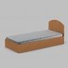 Кровать Компанит 90 944х700х2024 мм бук