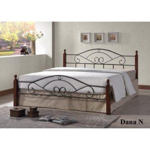 Кровать ONDER MEBLI Dana N 1400х2000 мм античное золото/орех