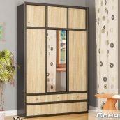 Шкаф-прихожая Мебель-Сервис Соня 2300х1500х420 мм венге темный/дуб самоа