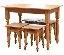 Комплект стол кухонный нераскладной и табуретки Мебель-Сервис 1000х600х745 мм ольха