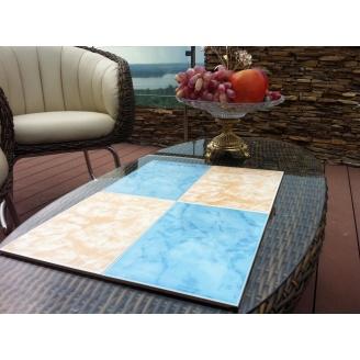 Плитка керамическая облицовочная настенная 20х30 см голубая-бежевая