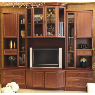 Гостинная Мебель-Сервис Эко-2 2065х2300х552 мм орех