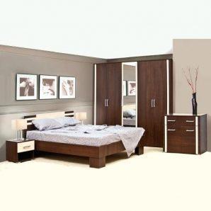 Спальня Світ меблів Елегія 3Д лімба шоколад/клен