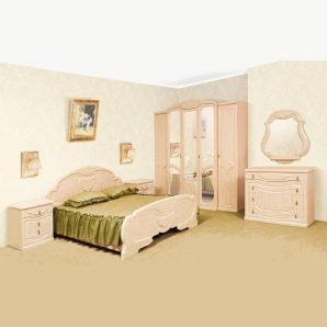 Спальня Мир мебели Эмилия перламутровая