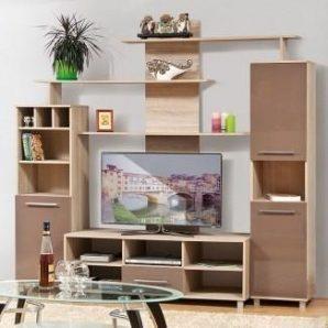 Стенка для гостиной Мир мебели Виннер 2 220x200x52 см мокка лак/дуб Сонома