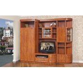 Стенка для гостиной Мир мебели Женева 251x215x63 см кальвадос лак