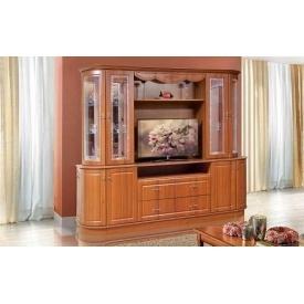Стенка для гостиной Мир мебели Цезарь 2 250x213x58 см орех