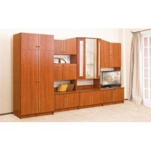 Стенка для гостиной Мир мебели Оскар 360x206x52 см орех