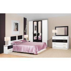Спальня Мир мебели Тулуза белое дерево/темное венге