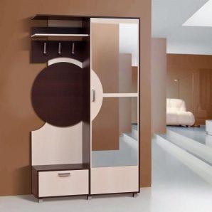 Прихожая Мир мебели Фиона 121x209x39 см темный венге/светлый венге