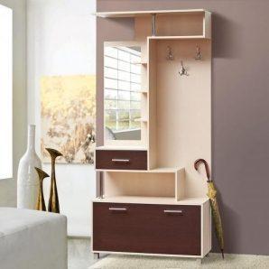 Прихожая Мир мебели Амина 100x216x41 см темный венге/светлый венге