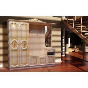 Прихожая Мир мебели Бристоль Новый 255x234x51 см роза лак