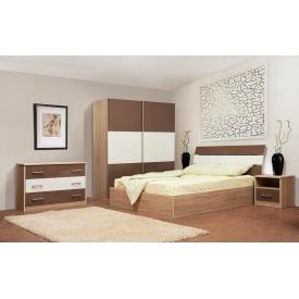 Спальня Мир мебели Элегант белая/мокка лак