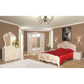 Спальня Мир мебели Кармен новая бежевый лак
