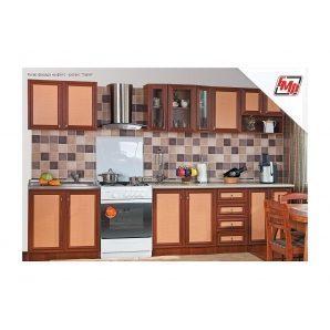 Кухня БМФ Тина Нова с пеналом 2,6 м ротанг ольха